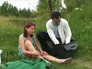 Brunettes, Busty, Doctor, Old and young, Old man, Outdoor, Teens