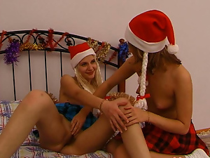 Angel, Ass, Blondes, Brunettes, Lesbian, Long hair, Pussy, Small tits, Teens, Xmas