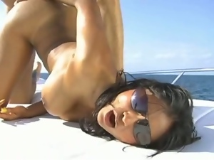 Big tits, Boat, Busty, Doggystyle, Flexible, Fucking, Hardcore, Indian, Missionary, Outdoor, Pornstars, Riding, Yacht