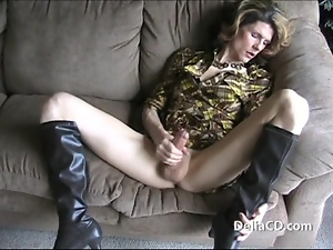 Boots, Cumshots, Dress, Handjob, Shemales, Tranny