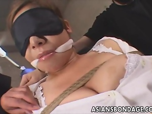 Asian, Bdsm, Blindfolded, Bondage, Dildo, Fetish, Japanese, Masturbating, Tied up