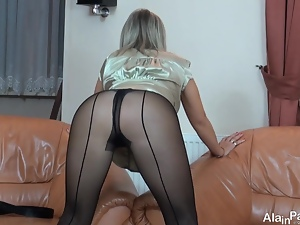 Fetish, Milf, Mom, Nylon, Pantyhose, Skirt, Solo, Tease
