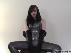 Fetish, Gloves, Latex, Pvc, Rubber, Solo, Tease