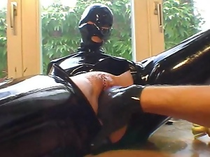 Babes, Fetish, Fingering, Gloves, Pvc, Rubber