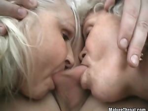 Big cock, Big tits, Blowjob, Ffm, Granny, Group sex, Handjob, Hardcore, Mature, Old, Threesome