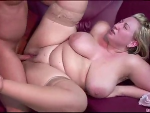 Bbw, Big tits, Blondes, Blowjob, Chubby, Cowgirl, Cumshots, Doggystyle, Facials, Fat, Masturbating, Riding, Stockings