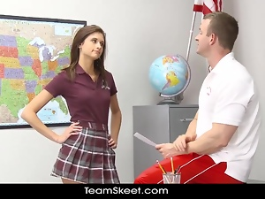 Babes, Brunettes, Classroom, Hardcore, Schoolgirl uniform, Shaved, Teacher, Teens, Uniform