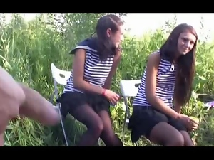 Dick, Flashing, Russian, Teens, Voyeur