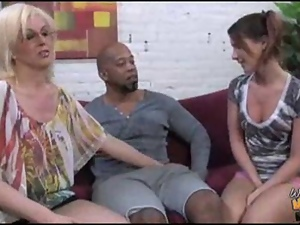 3some, Black, Creampie, Mom, Oral