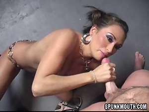 Blowjob, Braces, Cumshots, Facials, Handjob, High heels
