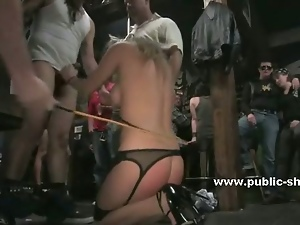 Deepthroat, Humiliation, Public, Redheads, Tied up