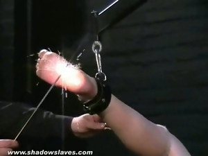 Bound, Dungeon, Electrified, Feet, Foot fetish