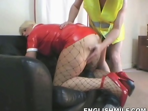 Big butt, Blondes, Fishnet, Horny, Latex, Milf