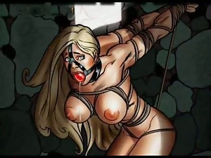 Blondes, Bondage, Busty, Cartoons, Comic