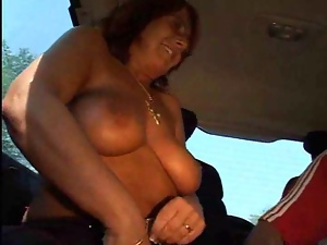 Backseat, Car, Chubby, Nude