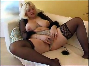 Blondes, Dildo, Mature, Sex toys, Stockings, Tits