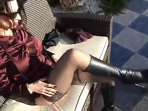 Fetish, Goth, Mature, Outdoor, Pantyhose, Satin