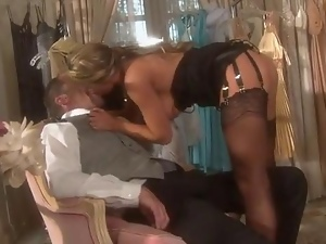 Blondes, Fucking, Garter belts, Stockings, Store
