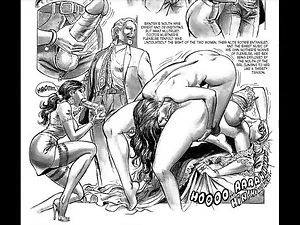 Bondage, Cartoons, Comic, Orgy