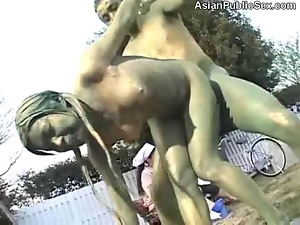 Couple, Fucking, Funny, Park sex, Posing