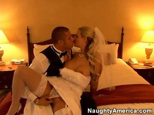 Bedroom, Blondes, Bride, Fucking, Stockings, Undressing, White