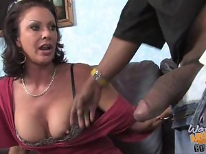 Big cock, Black, Blowjob, Boobs, Brunettes, Dick, Interracial, Mature