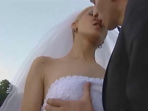 Blowjob, Bride, Uniform, Wedding