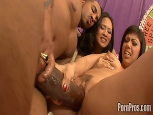Big cock, Blowjob, Game, Group sex, Interracial, Pussy, Slut