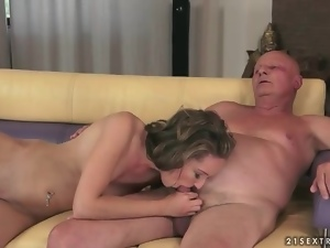 Cum, Cumshots, Fucking, Grandpa, Hardcore, Old and young, Pussy, Young