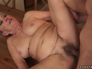 Fucking, Hardcore, Kitchen, Mature, Old and young, Snatch
