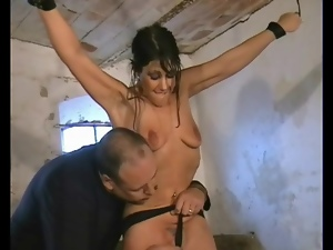 Basement, Bdsm, Bondage, Bound, Pain, Small tits