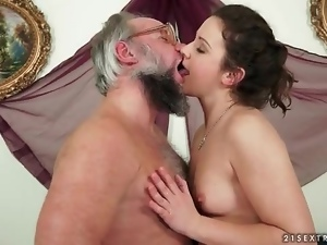 Blowjob, Brunettes, Cute, Old, Old and young, Teens