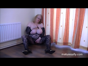 Bbw, Bodystocking, Fat, Mature