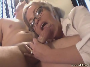 Cougar, Fucking, Glasses, Milf, Mom, Secretary, Squirting