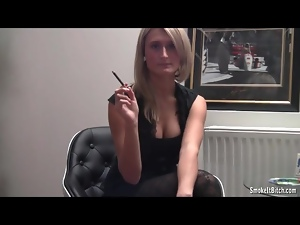 Big tits, Cigarette, Pantyhose, Sexy, Smoking