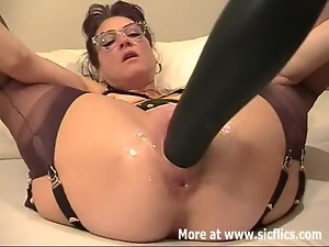 Amateur, Dildo, Fetish, Fisting, Fucking, Giant, Milf, Wife