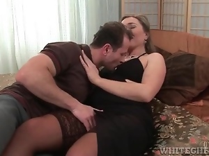Blowjob, Cocksucking, Lace, Milf, Stockings