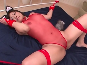 Bondage, Bunny, Japanese, Licking, Lingerie, Tied up
