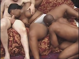 Bbw, Belly, Black, Ebony, Fat, Fucking, Threesome