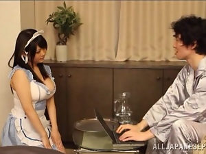 Asian, Brunettes, Busty, Fondling, Fucking, Japanese, Maid, Reality, Uniform