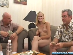 4some, Babes, Banging, Blondes, Group sex, Hardcore, Money, Natural boobs, Old, Old and young, Reality, Twins