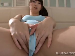 Asian, Bikini, Fondling, Japanese, Pussy, Reality, Sofa sex, Swimsuit