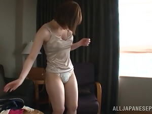 Asian, Blowjob, Boyfriend, Japanese, Panties, Short hair, Tits