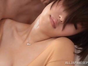 Asian, Bodystocking, Cunt, Fingering, Japanese, Short hair