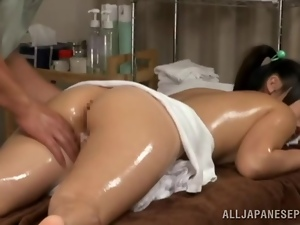 Asian, Banging, Couple, Japanese, Massage, Oiled, Pigtail, Reality, Teens