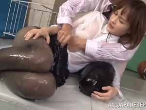 Asian, Clothed sex, Dick, Japanese, Oiled, Pantyhose, Reality, Sucking