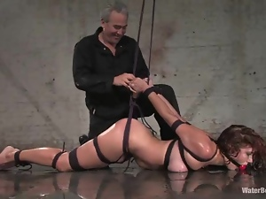 Bdsm, Bondage, Curly haired, Fetish, Gagged, Tied up