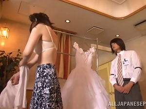 Asian, Bra, Dick, Huge, Japanese, Reality, Wedding