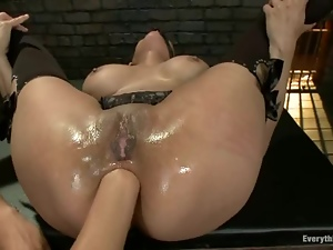 Ass, Bitch, Fetish, Fisting, Fucking, Kinky, Lesbian, Natural boobs, Stockings