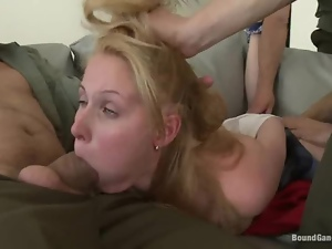 Blondes, Chick, Face fucked, Gangbang, Hardcore, Rough